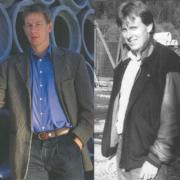 Andre generasjonsskifte. Kurt Opseth (t.h) var dagleg leiar frå 1988 - 1994. Søskenbarnet Lasse Opseth (t.v.) overtok som dagleg leiar frå 1994.
